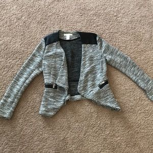 H&M Tweed Jacket with Leather Details